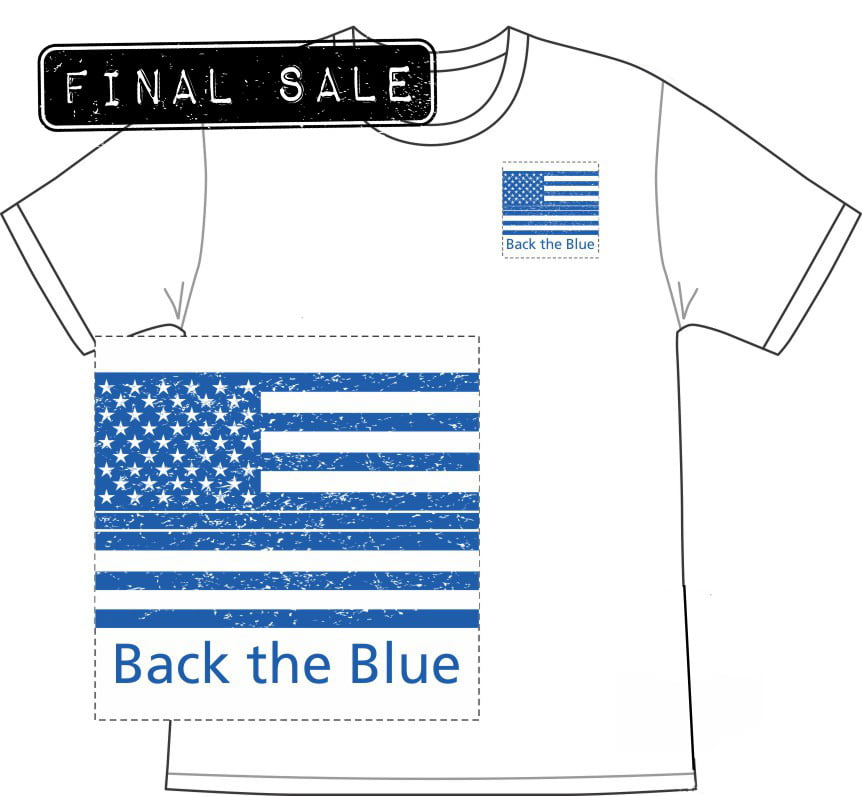 FINAL SALE Back The Blue TShirt